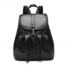 Жіночий міський рюкзак. Стильні жіночі рюкзаки в чотирьох кольорах: червоний, чорний, бежевий, синій., фото 3