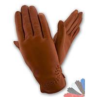 Женские перчатки из натуральной кожи на шелковой подкладке модель 369.