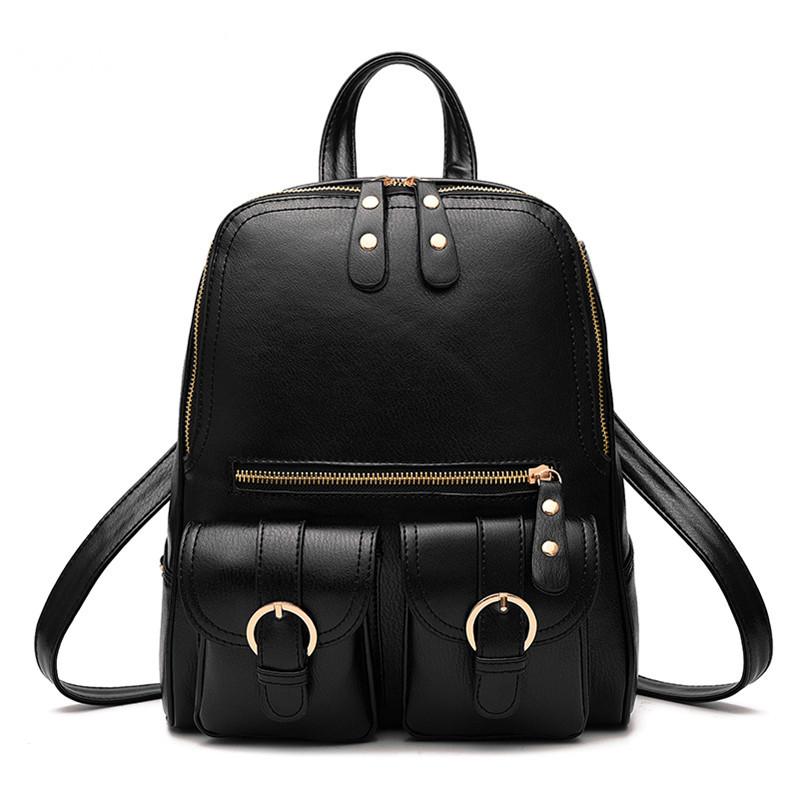 Молодіжні міські жіночі рюкзаки в трьох кольорах: червоний, чорний, синій.