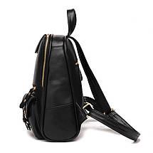 Молодіжні міські жіночі рюкзаки в трьох кольорах: червоний, чорний, синій., фото 3