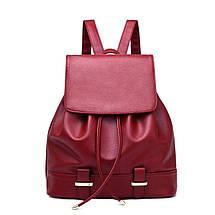 Жіночий міський рюкзак. Стильні жіночі рюкзаки в чотирьох кольорах: червоний, чорний, бежевий, синій, жовтий., фото 2
