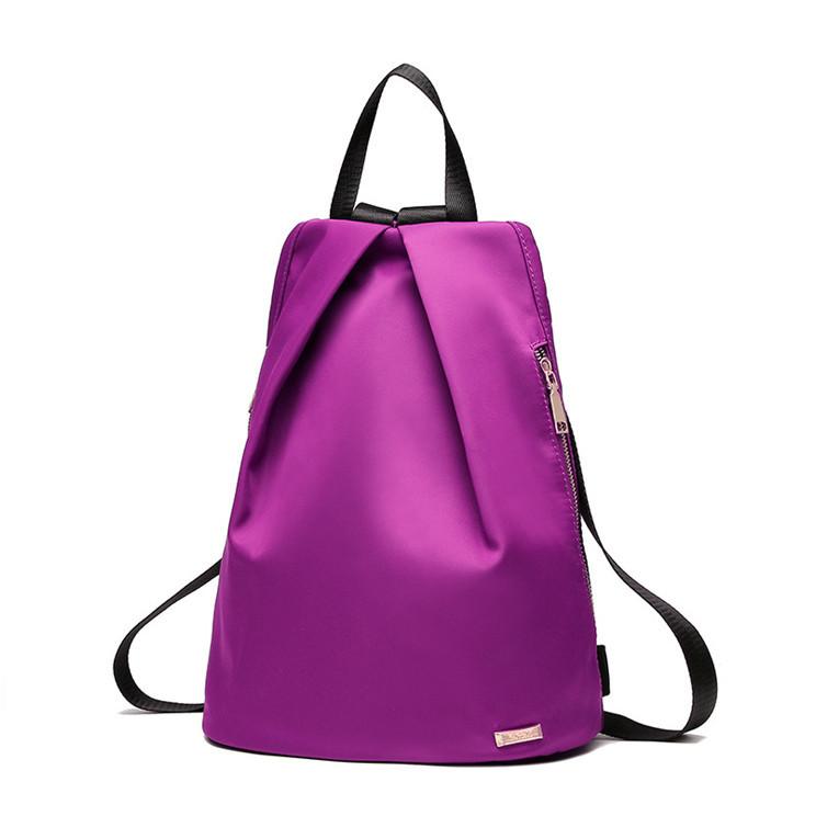 Рюкзак міський жіночий. Модні рюкзаки. Чорний, синій і фіолетовий колір.