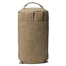 Универсальная сумка рюкзак мужская. Трансформер. Черный, хаки и зеленый. Брезент, фото 3
