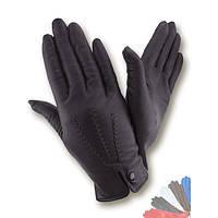 Женские перчатки из натуральной кожи на шелковой подкладке модель 427.