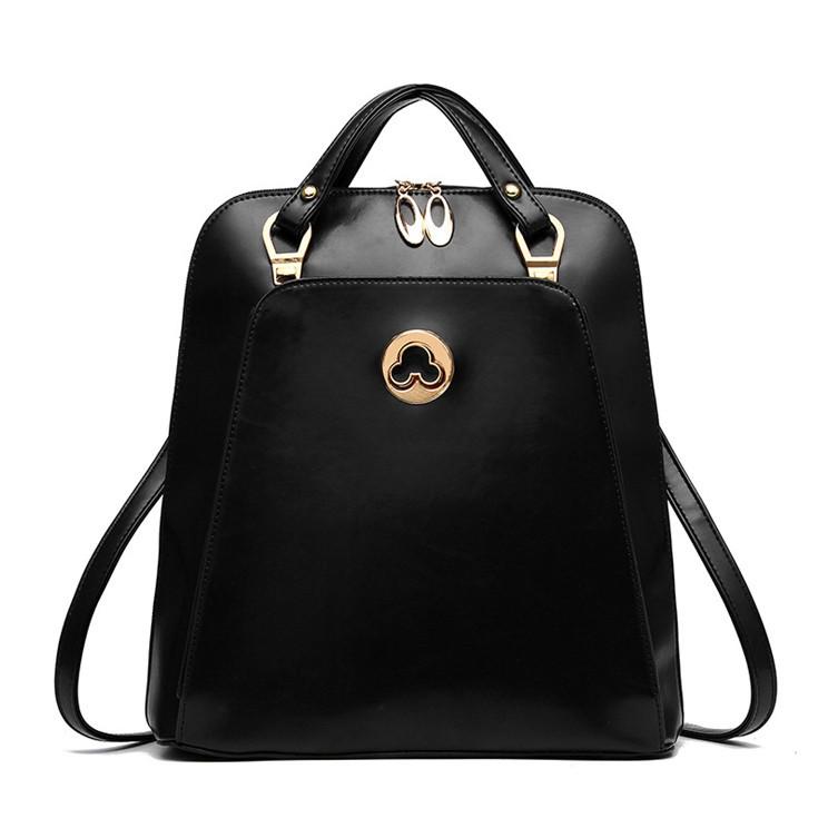 Жіноча сумка рюкзак трансформер. Стильні жіночі рюкзаки в трьох кольорах: червоний, чорний, бежевий.
