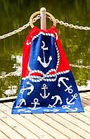 Велюровое полотенце Lotus пляжное Red&Blue 75*150