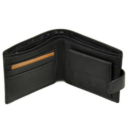 Чоловічий гаманець Sergio Torretti з натуральної шкіри. Чорний, фото 2