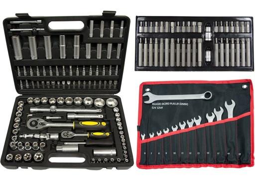 Набор инструментов 108 элементов + набор бит 40 шт + набор ключей 12 шт 6-22 mm