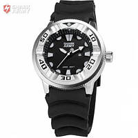 Мужские часы Shark Army с рельефным ремешком белые