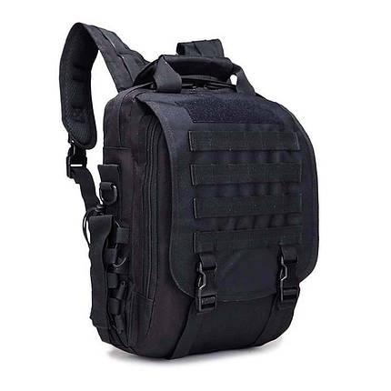 Тактична сумка рюкзак. Трансформер. Чорний, сірий і зелений., фото 2