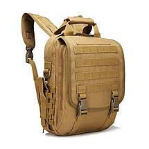 Тактична сумка рюкзак. Трансформер. Чорний, сірий і зелений., фото 3