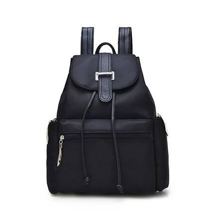 Женский молодежный рюкзак черного цвета. Городской рюкзак., фото 2