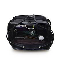 Женский молодежный рюкзак черного цвета. Городской рюкзак., фото 3