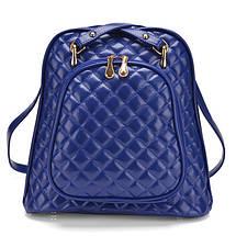 Женская сумка рюкзак трансформер. Стильные женские рюкзаки в четырех цветах: красный, черный, бежевый, синий., фото 3