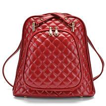 Женская сумка рюкзак трансформер. Стильные женские рюкзаки в четырех цветах: красный, черный, бежевый, синий., фото 2