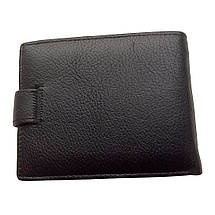 Чоловічий гаманець Dr. Bond з натуральної шкіри. Портмоне чоловіче. Чорний колір., фото 2