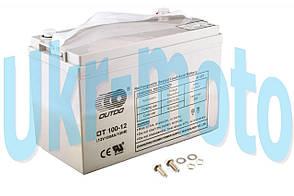 """АКБ   12V 100А   AGM   (330x172x223, серый)   """"OUTDO"""""""