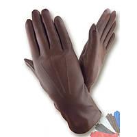 Женские перчатки из натуральной кожи на шерстяной подкладке модель 001.