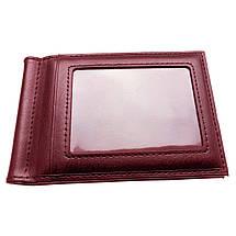 Мужской кошелек с зажимом для купюр. Черный и коричневый, фото 3