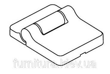 Комплект накладок на петлі для складних систем 28-48 Сріблястий, фото 2