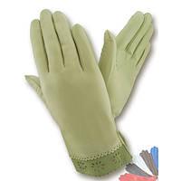 Женские перчатки из натуральной кожи без подкладки модель 205