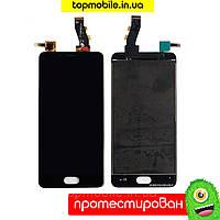 Модуль Meizu U10 (дисплей + тачскрин), чёрный-белый копия высокого качества  hc