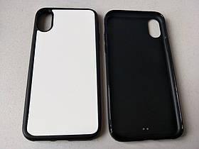 Чехол для сублимации 2D iPhone X TPU (чёрный)
