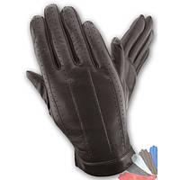 Мужские перчатки из натуральной кожи без подкладки модель 108.