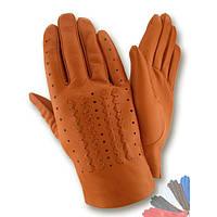 Мужские перчатки из натуральной кожи без подкладки модель 270.