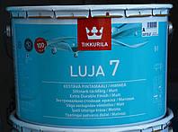 Влагостойкая матовая экстремально стойкая краска Tikkurila Luja 7, (Тиккурила Луя 7), База А 9л