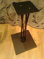 Витая опора для стола. Металлический стол для кафе. Металлическая опора для ресторана