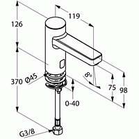 Смеситель сенсорный для умывальника Kludi Zenta 3820505 (1 подводку, 230 V)