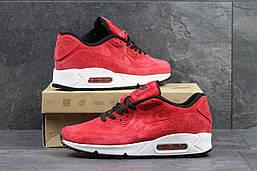 Красныемужские кроссовки Nike air max 87 демисезонные замшевые кроссовки в стиле найк на белой подошве
