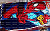 Плед флисовый Человек паук 140х120