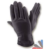 Мужские перчатки из натуральной кожи на шерстяной подкладке модель 066.