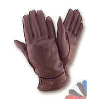 Мужские перчатки из натуральной кожи на шерстяной подкладке модель 103.