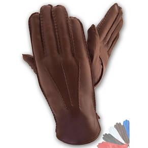 Мужские перчатки из натуральной кожи на шерстяной подкладке модель 120_4, фото 2