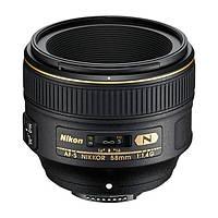 Объектив Nikon AF-S Nikkor 58mm f / 1.4G Black (JAA136DA)