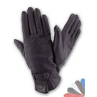 Мужские перчатки из натуральной кожи на шерстяной подкладке модель 123.