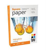 Бумага 10 * 15 100л глянцевый 230г / м2 PG230-100 ColorWay (PG2301004R)