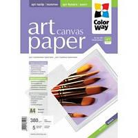 Бумага А4 5л ART глянцевый / фактура парусина 150г / м ColorWay (PPA150005A4)