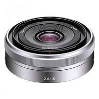 Объектив Sony E 16 mm f / 2.8 Silver (SEL16F28.AE)