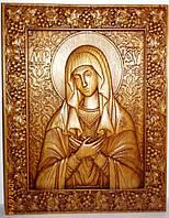 """Резные иконы. Икона Божьей Матери""""Умиление"""", фото 1"""