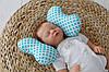 """Детская подушка для новорожденных """"Butterfly"""", бирюза"""