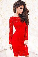 Кружевное красное платье  -БЕЛИССИМО-