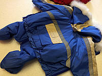 Костюм зимний Аляска 25 см разм №0 синий для собак