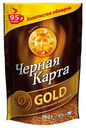 """Кофе """"Черная Карта"""" Gold 190 г (сублимированный)"""