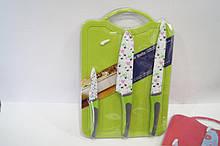 Набір кухонних ножів Giakoma G-8134 c дощечкою
