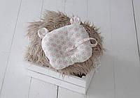 """Детская подушка для новорожденных """"Мишкины ушки"""", цветы, фото 1"""