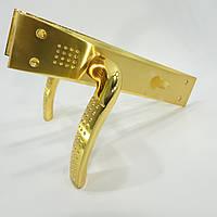 Ручка на планке для входных дверей BARI (золото)